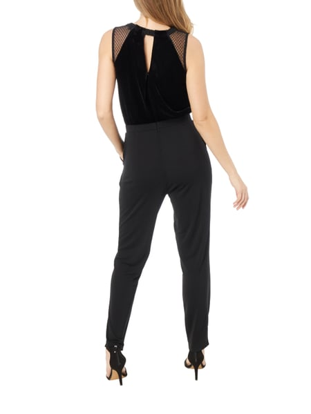 esprit collection jumpsuit mit oberteil aus samt in grau schwarz online kaufen 9740804 p c. Black Bedroom Furniture Sets. Home Design Ideas