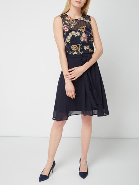Esprit collection kleid dunkelblau