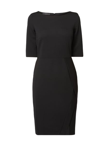 Esprit Collection Kleid mit Rippenstruktur Schwarz