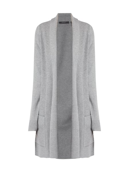 Esprit Collection Longcardigan mit Schalkragen Grau - 1