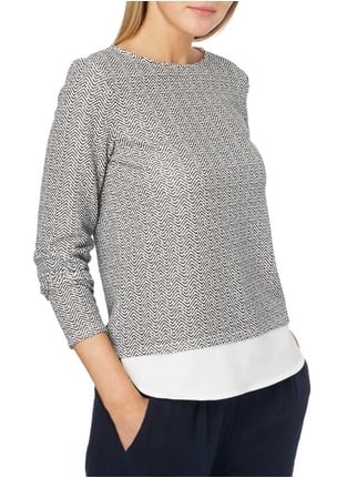 Esprit Collection Longsleeve mit Allover-Muster Schwarz - 1