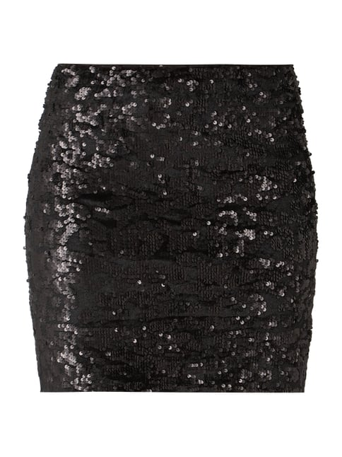 Esprit Collection Minirock mit Wende-Pailletten Grau   Schwarz - 1 ... e153e20a39
