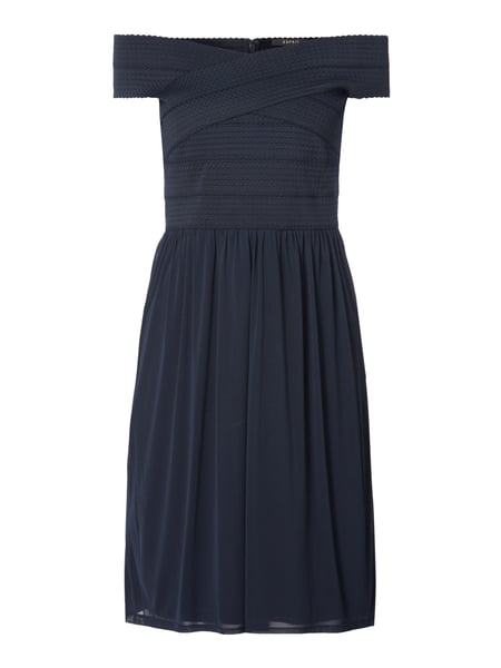 Off Shoulder Cocktailkleid mit Raffungen Blau / Türkis - 1