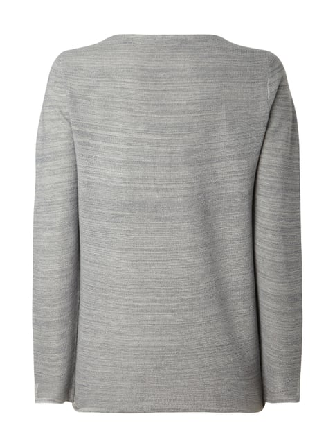 Esprit Collection Pullover mit Effektgarn Hellgrau - 1