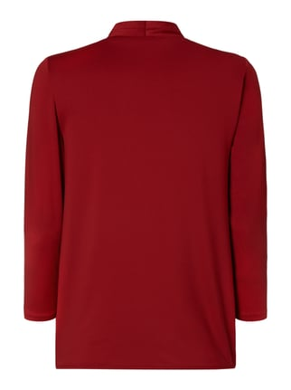 Esprit Collection Shirt mit Besatz in Wickeloptik Bordeaux Rot - 1