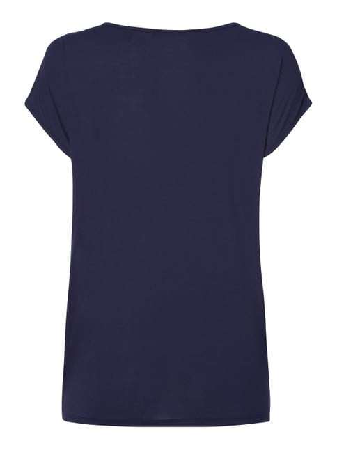 Esprit Collection Shirt mit Kontrastvorderseite Marineblau - 1