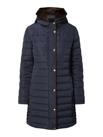 Esprit Collection Steppjacke mit Kapuze - wattiert Blau - 1