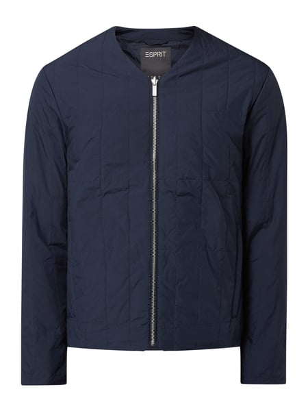 Esprit Collection Steppjacke mit V-Ausschnitt Blau - 1