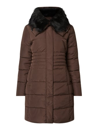 Esprit Collection Steppmantel mit Fake Fur - wattiert Rot - 1