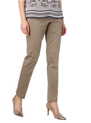 Esprit Collection Stoffhose mit Stretch-Anteil Taupe - 1