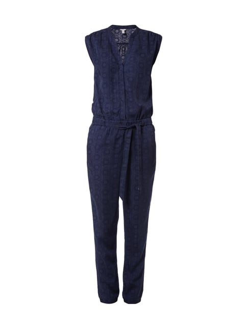 Jumpsuit mit Inside-Out-Muster Blau / Türkis - 1