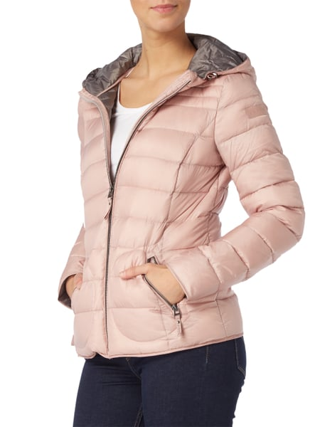 low priced b8a53 bf787 ESPRIT Light-Daunenjacke mit Kapuze in Rosé online kaufen ...