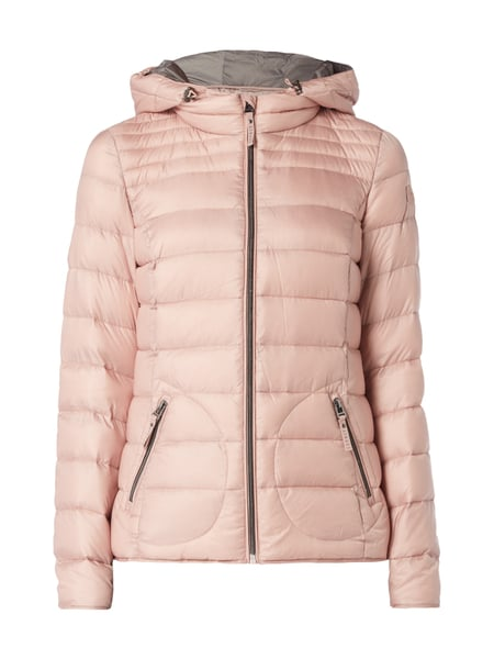 low priced 54672 1b643 ESPRIT Light-Daunenjacke mit Kapuze in Rosé online kaufen ...