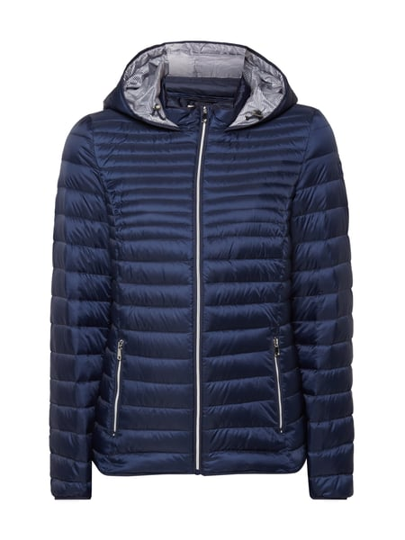 big sale d1d81 38bc5 Esprit – Light-Daunenjacke mit Kapuze – Marineblau