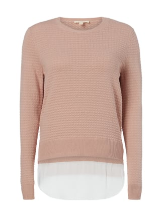 Pullover mit Saum im Double-Layer-Look Rosé - 1