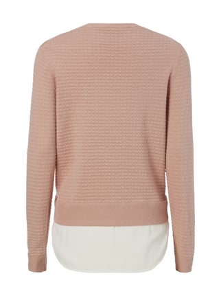 Esprit Pullover mit Saum im Double-Layer-Look Rosé - 1