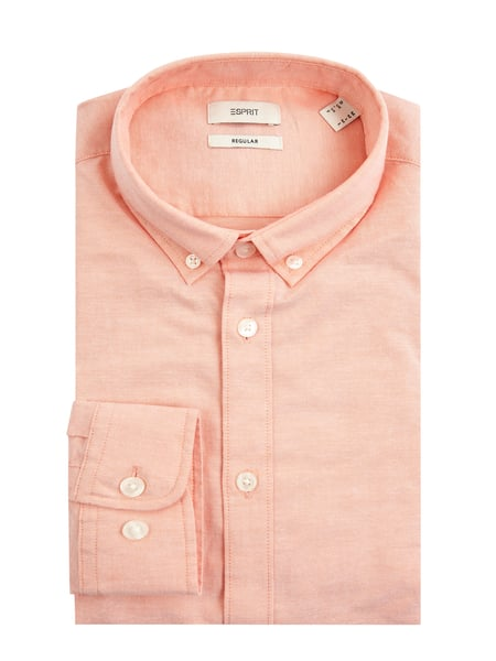 Esprit Regular Fit Freizeithemd mit Organic Cotton Rot - 1