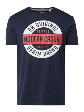 Esprit Regular Fit T-Shirt mit Logo-Print Blau - 1