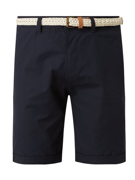 Esprit Relaxed Slim Fit Chino-Shorts mit Gürtel Blau - 1