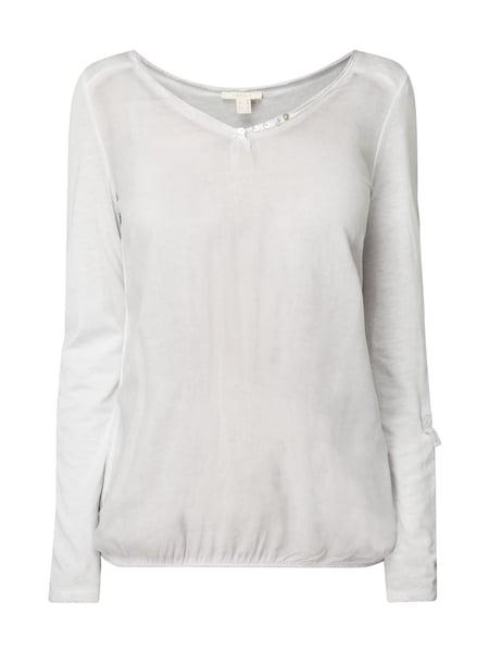 Esprit Shirt im Washed Out Look Taupe