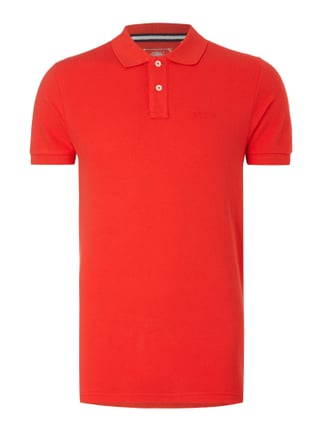 Slim Fit Poloshirt aus reiner Baumwolle Orange - 1