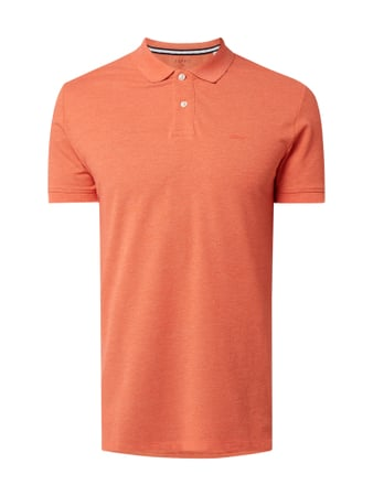 Esprit Slim Fit Poloshirt mit Logo-Print Orange - 1