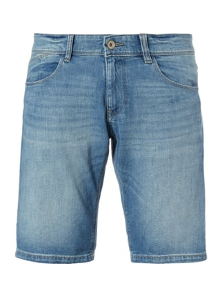 Stone Washed Slim Fit Jeansshorts Blau / Türkis - 1