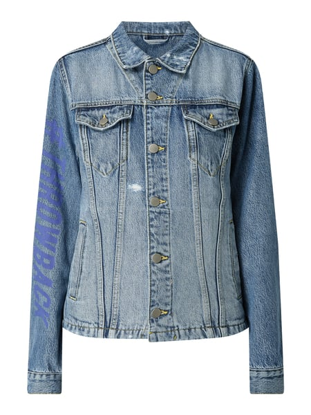 Esprit THROWBACK - Unisex Jeansjacke im Used Look Blau - 1