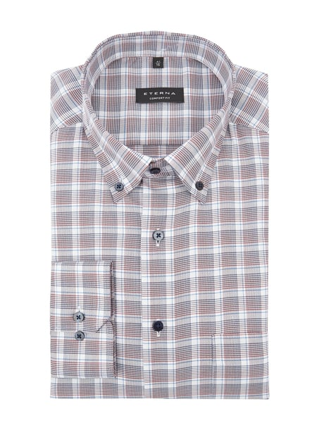 Eterna Comfort Fit Business-Hemd mit Button-Down-Kragen Rot - 1