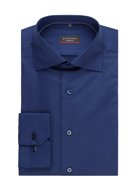 Eterna Regular Fit Business-Hemd aus Twill Blau - 1