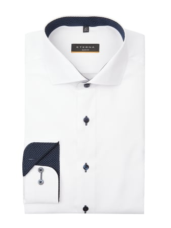 Eterna Slim Fit Business-Hemd aus Oxford Weiß - 1