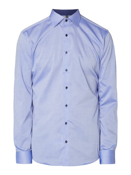 Eterna Slim Fit Business-Hemd mit Stretch-Anteil Royalblau