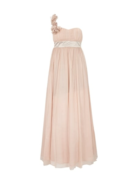 FEVER-LONDON One-Shoulder-Abendkleid aus reiner Seide in Rosé online ...
