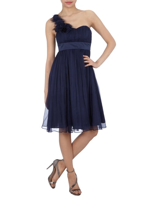 Fever London One-Shoulder Cocktailkleid aus Seide in Blau / Türkis - 1