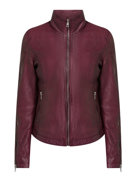 Freaky Nation Lederjacke im Biker-Look Rot - 1
