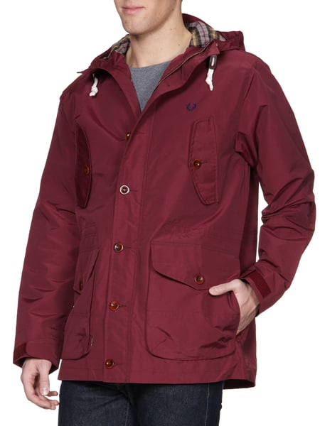 FRED-PERRY Jacke mit Logo-Stickerei in Rot online kaufen (8977470 ... bc10a1e30a