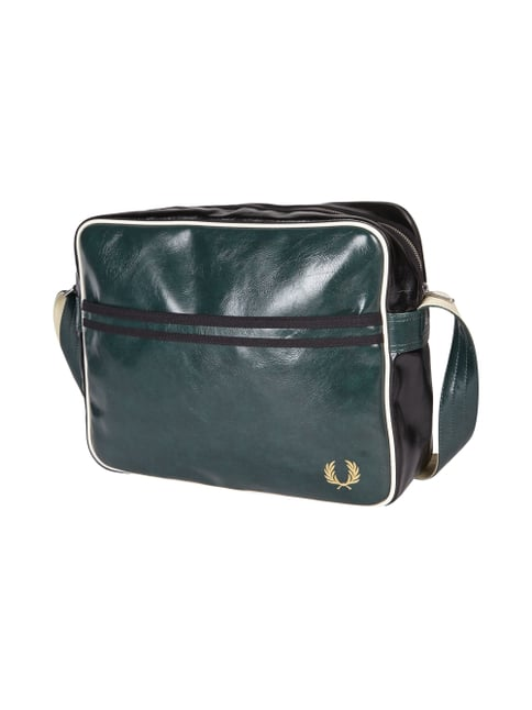 Messenger Bag in Leder-Optik Grün - 1