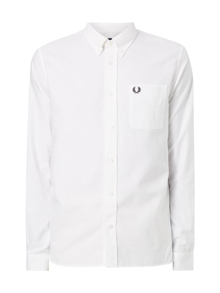 Fred Perry Classic Oxford S - Modern Fit Freizeithemd Weiß