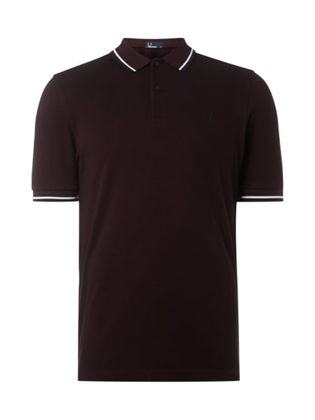 Fred Perry Twin Tipped - Poloshirt mit Kontrastdetails Dunkelrot