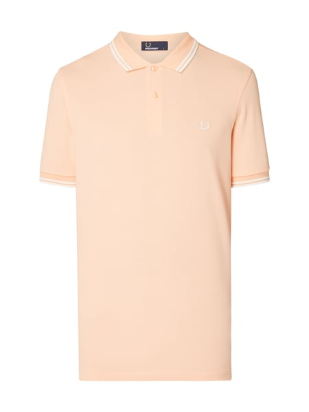 Fred Perry Twin Tipped Fred - Poloshirt mit Zierstreifen Apricot meliert
