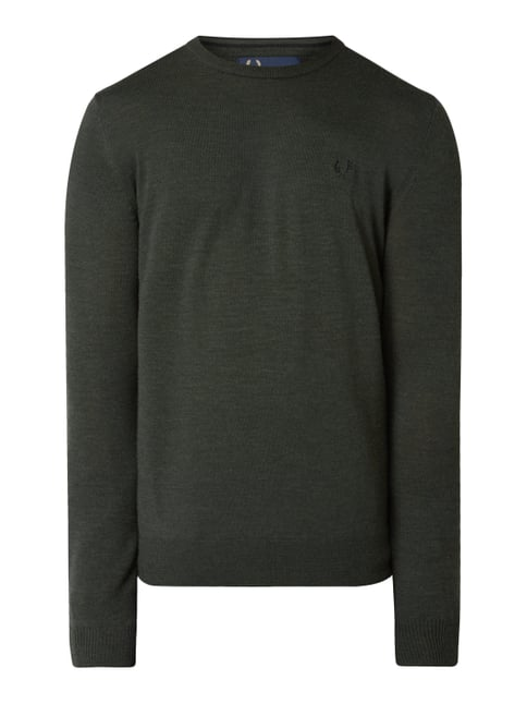 08aacf909dd8 Fred Perry Pullover aus reiner Wolle Grün - 1 ...