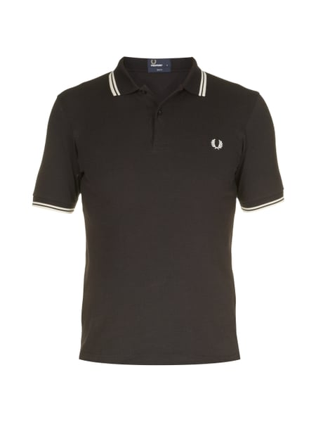 Fred Perry Slim Fit Poloshirt Grau / Schwarz - 1