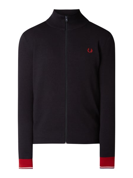 Fred Perry Strickjacke mit Logo-Stickerei Blau - 1