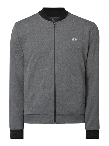 Fred Perry Sweatjacke mit Logo-Stickerei Grau - 1