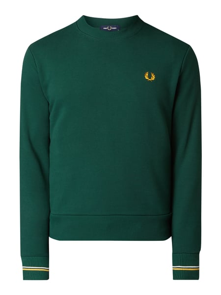 Fred Perry Sweatshirt mit Logo-Stickerei Grün - 1