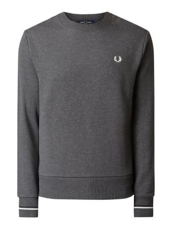Fred Perry Sweatshirt mit Logo-Stickerei Grau - 1