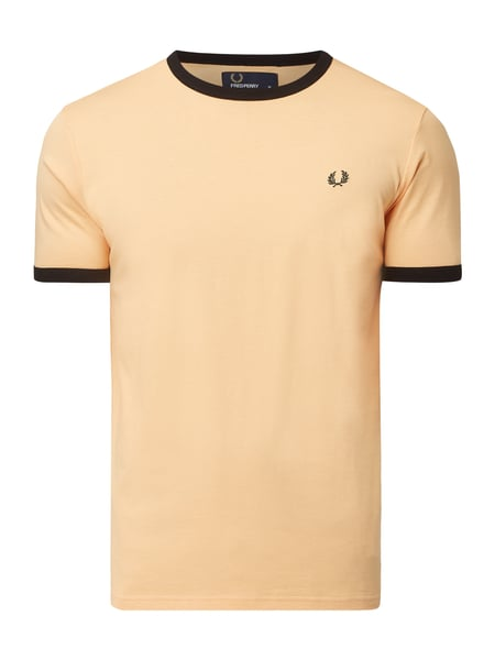 Fred Perry T-Shirt mit Logo-Stickerei Orange - 1