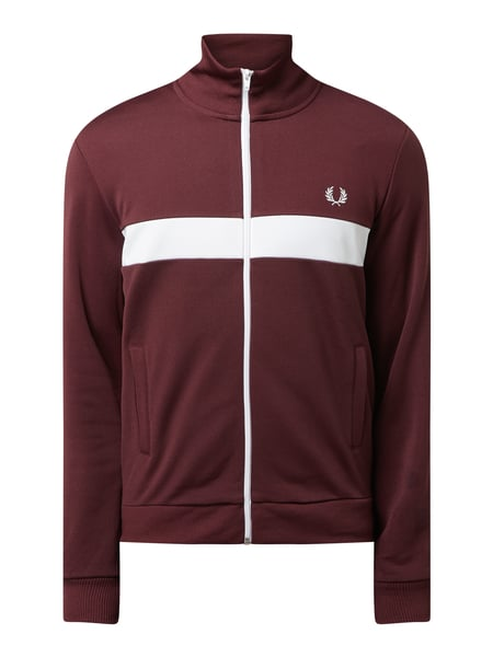 Fred Perry Trainingsjacke mit Logo-Stickerei Rot - 1