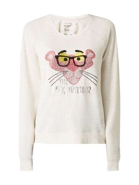 Frogbox Pullover mit Pink Panther©-Print Offwhite
