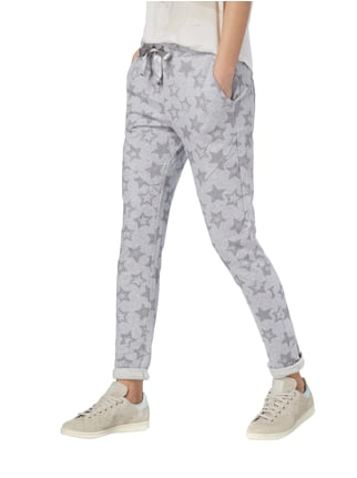 Frogbox Sweatpants mit Sternenmuster Silber - 1